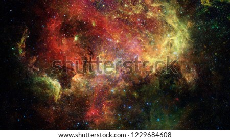 Nebula and stars in deep space, mysterious universe. Elements of this image furnished by NASA #1229684608