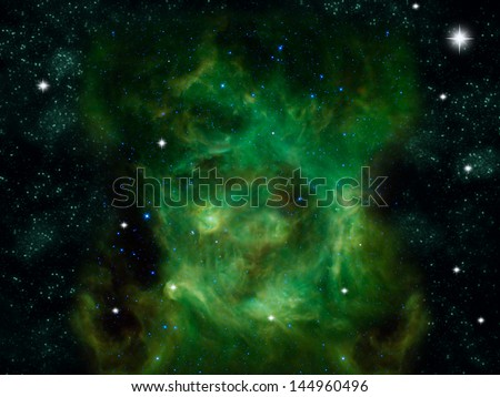 nebula and stars in the space.