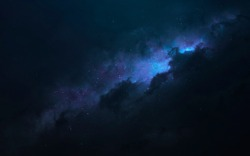 Nebula, beautiful science fiction wallpaper with endless deep space. Elements of this image