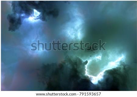 Nebula - 3D illustration #791593657