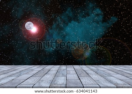 Nebula in galaxy with stone table #634041143
