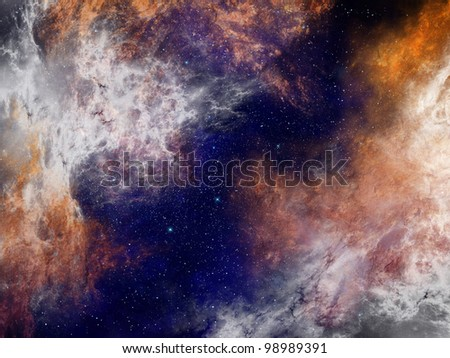 Nebula in space background