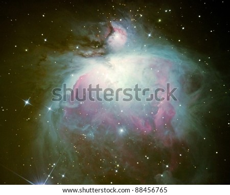 Nebulae in space / Orion Nebulae / The Orion nebula in it's colorful glory