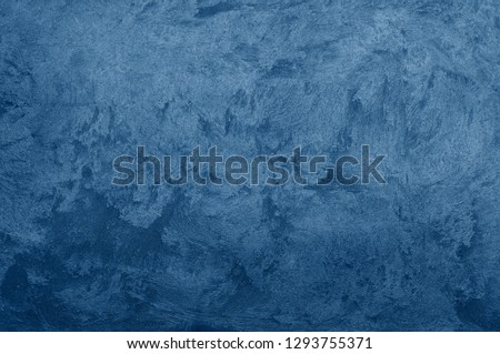 Nebules blue texture decorative Venetian stucco for backgrounds #1293755371
