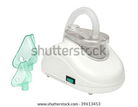 Nebulizer machine over white