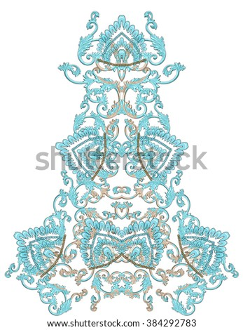 neck collar consisting of pattern baroque