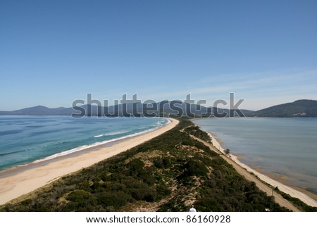 Neck of Bruny Island, Tasmania, Australia