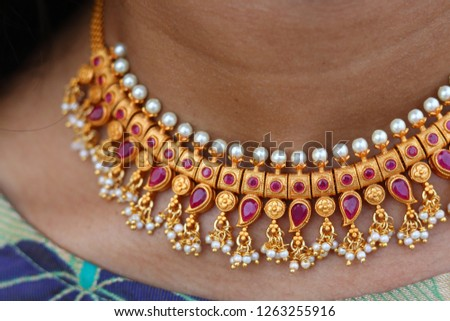 necklace closeup.necklace closeup on model closeup  #1263255916