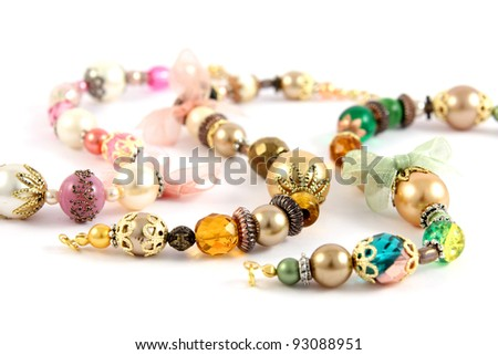 necklace in fashion and beauty concept – selective focus