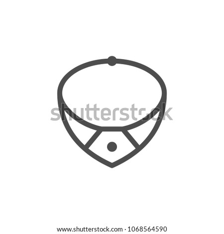 Necklace line icon isolated on white