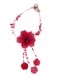 necklace on a white background.