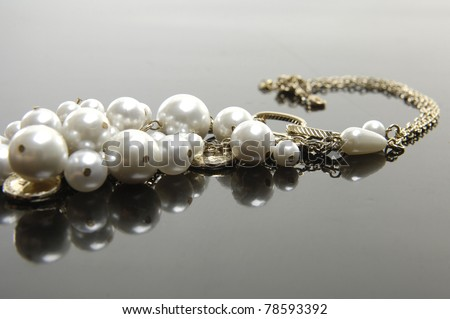 Necklace, studio isolated photo