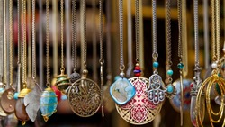 neckless for sell at bazaar market