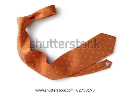 necktie isolated white background