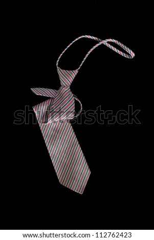 necktie on a black background