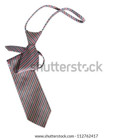 necktie on a white background