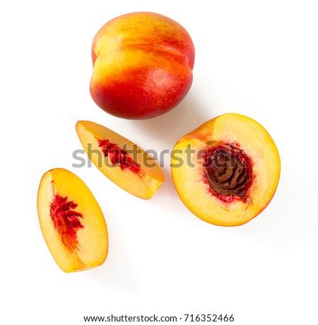 nectarine isolated on white background