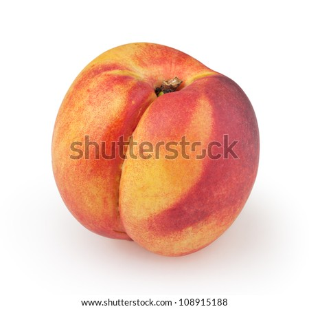 Nectarine isolated on white background with clipping path