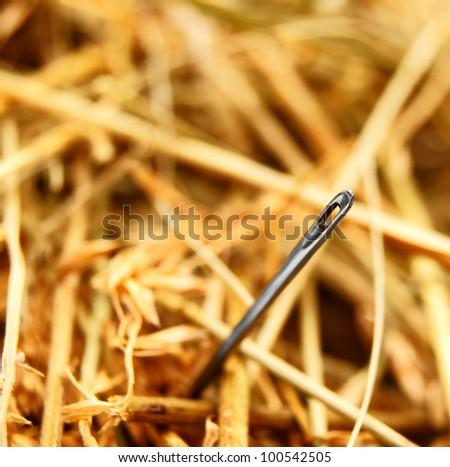 Needle and hay.