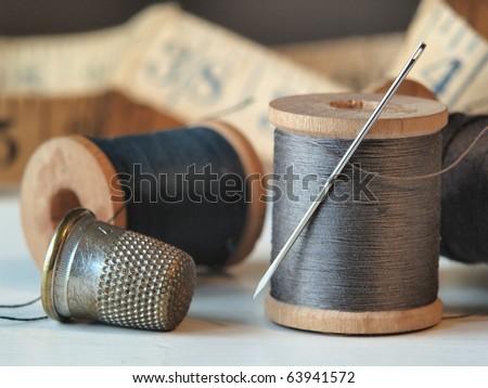 Needle, Thread and Thimble