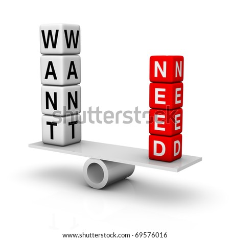 needs and wants balance