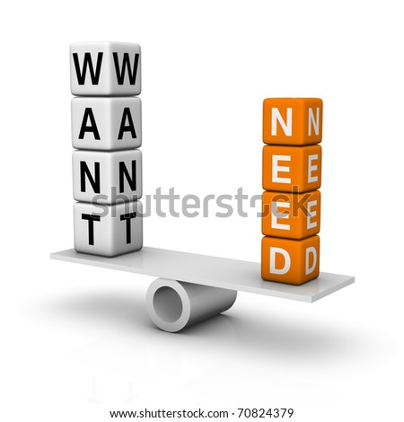 needs and wants balance (3D crossword orange series)
