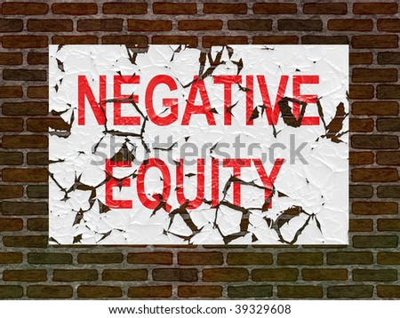 Negative Equity poster on an old brick wall