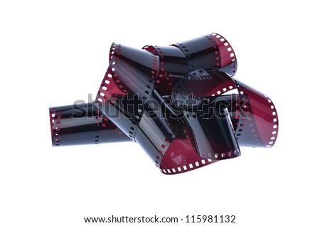 Negatives film isolated on a white background