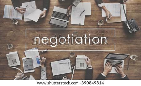 Negotiation Deal Agreement Collaboration Talk Concept #390849814