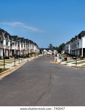Neighborhood of row houses