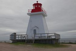 Neil's Harbour lighthouse on Cape Breton Isle in Nova Scotia 4933