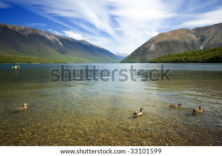 Nelson Lakes Landscape, New Zealand