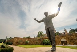 Nelson Mandela statue on his square in front of Union Buildings in Pretoria, South Africa