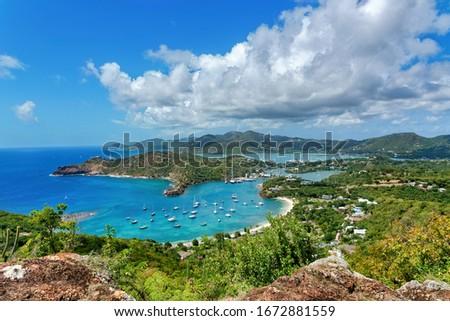 Nelson's Dockyard National Park Panorama, UNESCO World Heritage Site, Antigua and Barbuda Stock fotó ©
