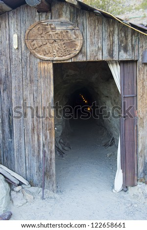 NELSON , USA - NOV 25 : Entrence to the old Eldorado mine in Nelson Nevada ghost town on November 25 ,2012