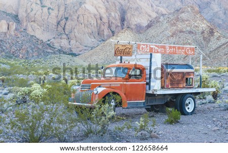 NELSON , USA - NOV 25 : Old Coca cola truck in Nelson Nevada ghost town on November 25 ,2012