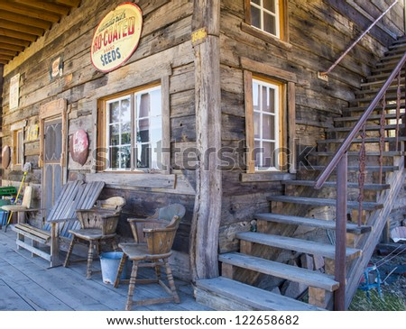 NELSON , USA - NOV 25 : Old wooden house in Nelson Nevada ghost town on November 25 ,2012