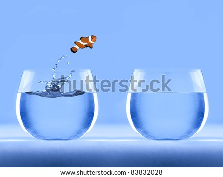 Nemo jumping out of the water