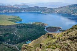 Nemrut Crater Lake has a wonderful view, Bitlis, Turkey.
