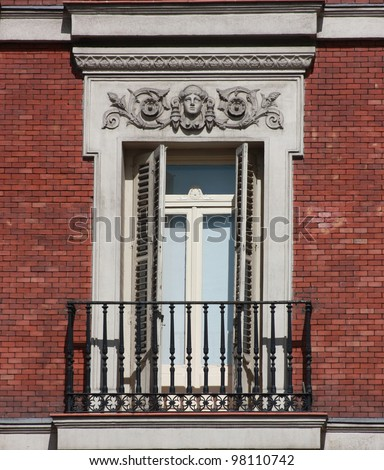 Brick Apartment Building Window