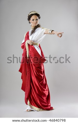 Roman Fashion on Neo Classical Women Like Goddess In Roman Clothing  Stock Photo