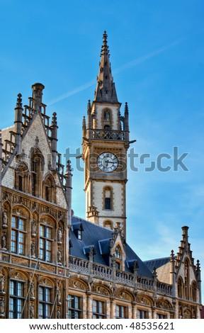 Neo-Gothic Architecture - Post Plaza, Ghent (Gent), Belgium