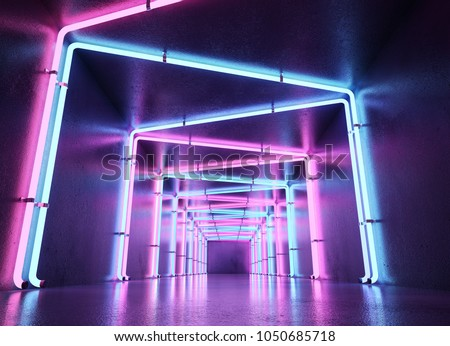 Neon abstract background #1050685718