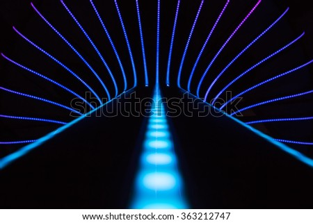 Neon abstract background of lines and bokeh #363212747