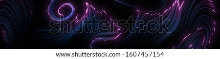 Neon Abstract Particles Background. Glow Particles. Widescreen