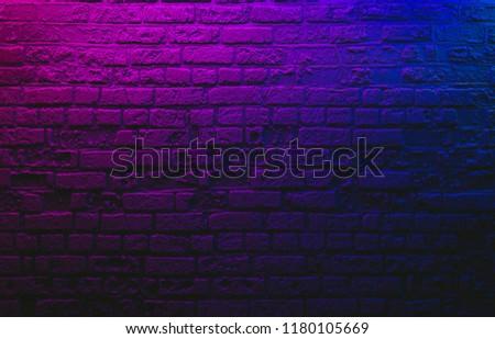 Neon brick wall background concept #1180105669