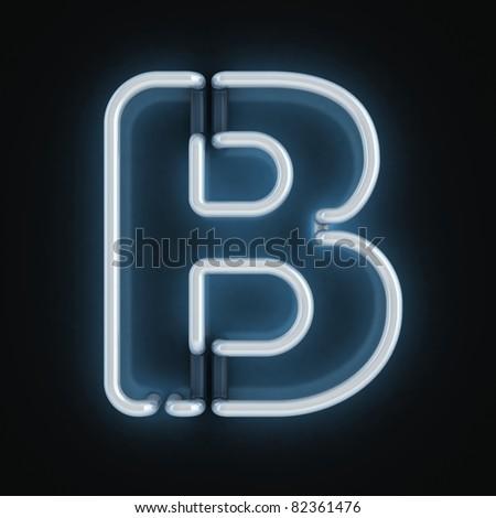 neon font letter b
