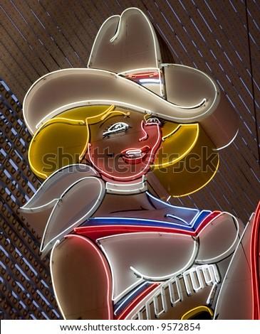 neon girl las vegas