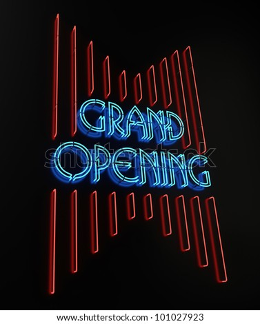 Neon Grand Opening Sign