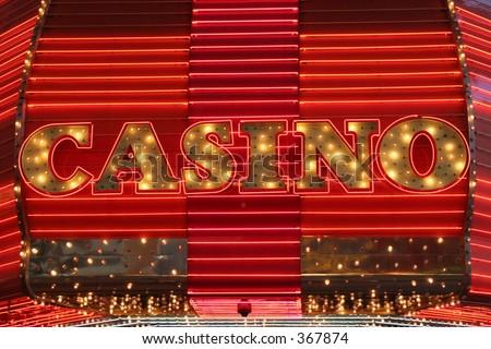 Neon Light Casino Sign
